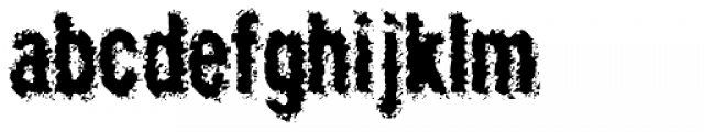 Crockstomp Frosted Font LOWERCASE