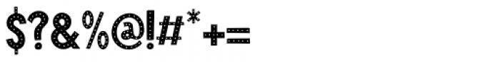 Crocodile Feet Dots Regular Font OTHER CHARS