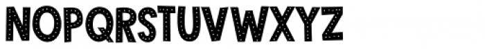 Crocodile Feet Dots Regular Font UPPERCASE