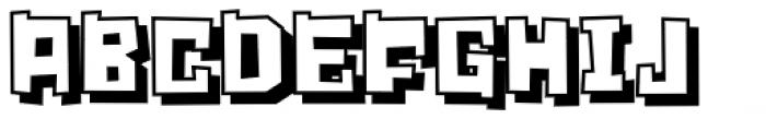 Crognita 3 D Font UPPERCASE