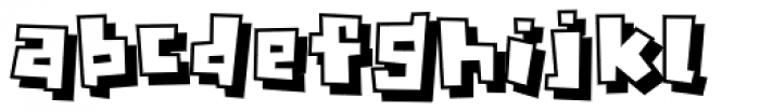 Crognita 3 D Font LOWERCASE