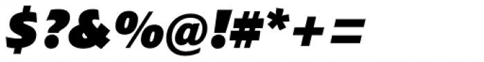 Croma Sans Black Italic Font OTHER CHARS