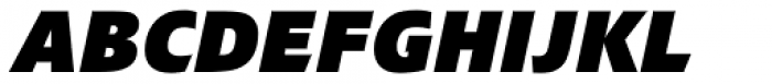 Croma Sans Black Italic Font UPPERCASE
