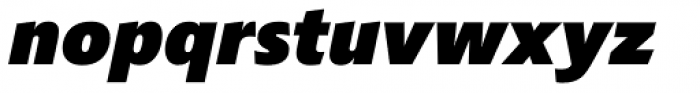 Croma Sans Black Italic Font LOWERCASE