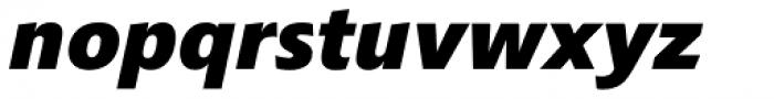 Croma Sans Extra Bold Italic Font LOWERCASE
