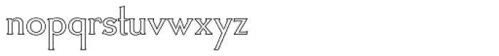Crombury Outline Font LOWERCASE