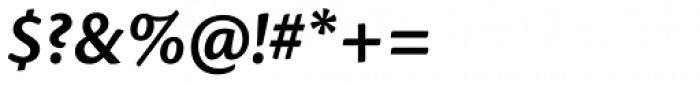 Cronos Pro SemiBold Italic Font OTHER CHARS