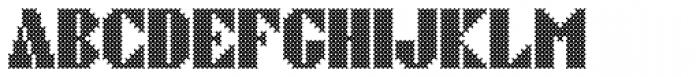 Cross Stitch Brazen Font LOWERCASE