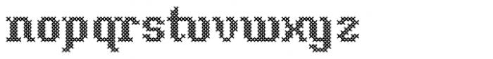 Cross Stitch Classic Font LOWERCASE
