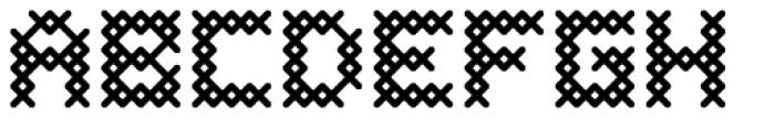Cross Stitch Coarse Font UPPERCASE
