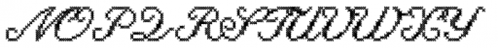 Cross Stitch Cursive Font UPPERCASE