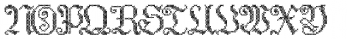 Cross Stitch Elaborate Font UPPERCASE