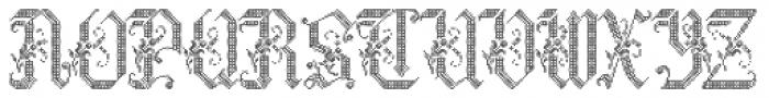 Cross Stitch Graceful Font UPPERCASE