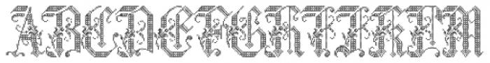 Cross Stitch Graceful Font LOWERCASE