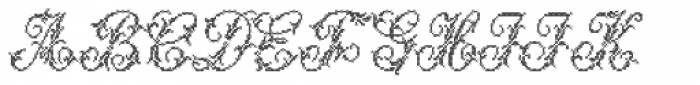 Cross Stitch Majestic Font UPPERCASE