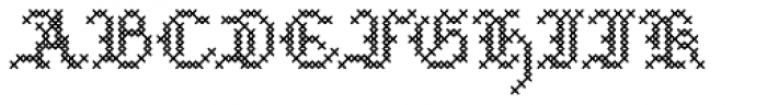 Cross Stitch Medieval Font LOWERCASE