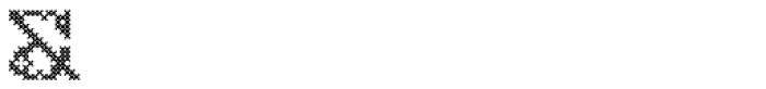 Cross Stitch Monogram Font OTHER CHARS