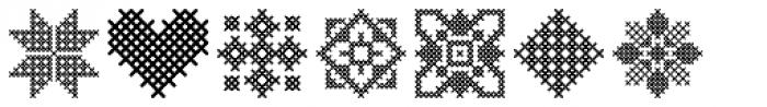 Cross Stitch Ornaments Font OTHER CHARS
