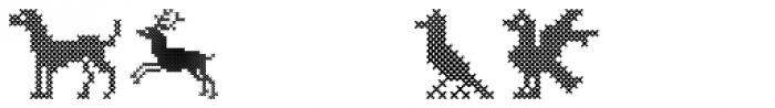 Cross Stitch Ornaments Font UPPERCASE