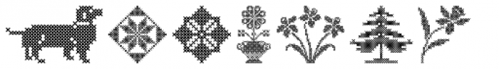 Cross Stitch Ornaments Font LOWERCASE