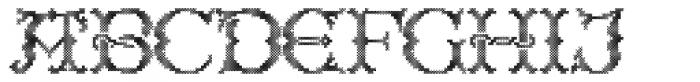 Cross Stitch Regal Font UPPERCASE