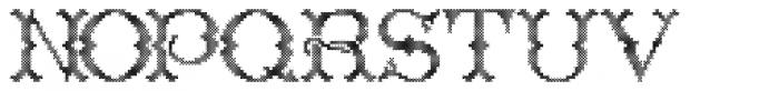 Cross Stitch Regal Font LOWERCASE