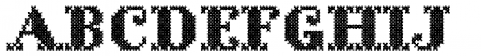 Cross Stitch Solid Font LOWERCASE