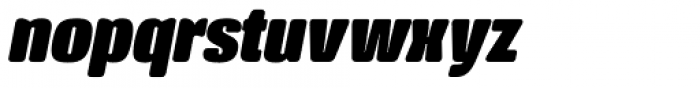 Crossfit Heavy Italic Font LOWERCASE