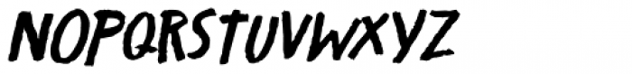 Crowbar Italic Font UPPERCASE