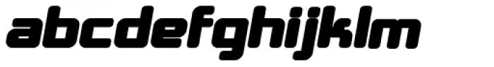 Crubster Bold Italic Font LOWERCASE