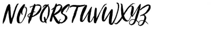Crushine Brush Alternative Font UPPERCASE