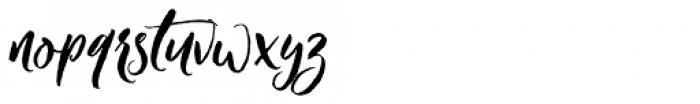 Crushine Brush Alternative Font LOWERCASE