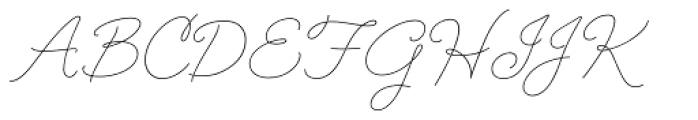 Cruz Script Ballpoint Pro Font UPPERCASE
