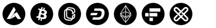 Cryptocurrency No.05 Radial Font UPPERCASE