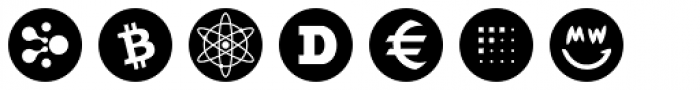 Cryptocurrency No.05 Radial Font LOWERCASE