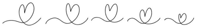 Crystal Sky Hearts Font UPPERCASE