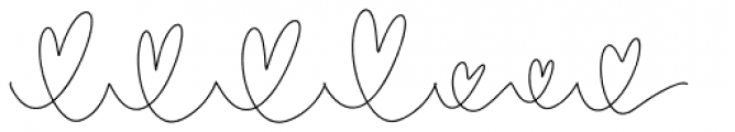 Crystal Sky Hearts Font LOWERCASE