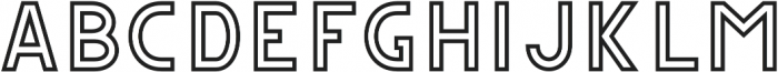 CS Gordon Outline otf (400) Font UPPERCASE