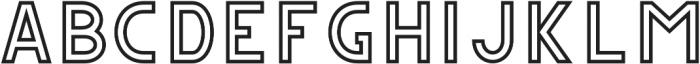 CS Gordon Outline otf (400) Font LOWERCASE