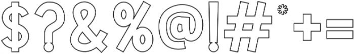 CS Harley Semibold Outline otf (600) Font OTHER CHARS