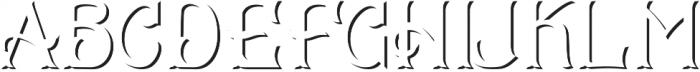 CS Mulan Shadow otf (400) Font UPPERCASE