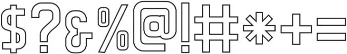 CS Rocky Outline otf (400) Font OTHER CHARS