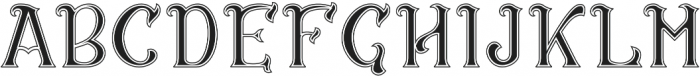 CS Rosalia Dropline otf (400) Font UPPERCASE