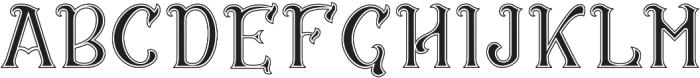 CS Rosalia Dropline otf (400) Font LOWERCASE