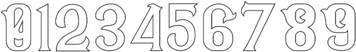 CS Rosalia Outline otf (400) Font OTHER CHARS