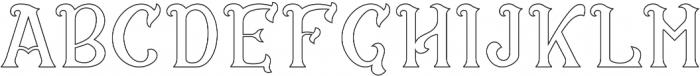 CS Rosalia Outline otf (400) Font UPPERCASE