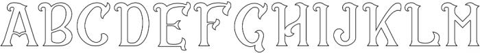 CS Rosalia Outline otf (400) Font LOWERCASE