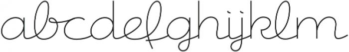 Csemege otf (400) Font LOWERCASE