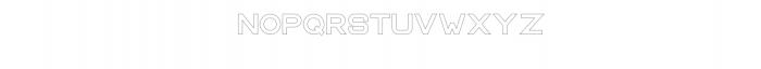 CS Harley Bold Outline.otf Font LOWERCASE