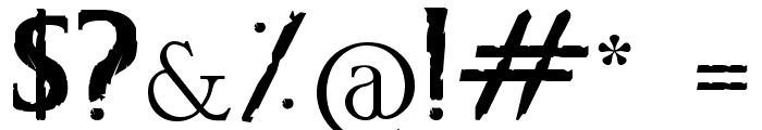 CS Grimrock Font OTHER CHARS